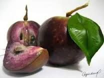 Caimito o Caymito (Star Apple) 05 Exotic Fruit, Tropical Fruits, Star Apple, People Eating, Fruit Trees, Eggplant, Food Inspiration, Caribbean, Dominican Republic