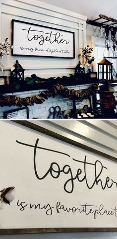 Together Is My Favorite Place To Be / Large Wood SIgn / Together Sign / Family Sign #woodsign #family #together #walldecor #farmhouse #rustic #homedecor #affiliate