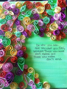 the leedom green notebook.: quilling.