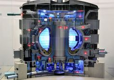 This 1:50 scale model of the future ITER reactor, produced in Korea, arrived at ITER headquarters in France on Monday where it will be put on display.  Credit: ITER Organization