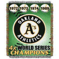 MLB Oakland Athletics Commemorative Tapestry Throw
