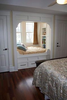 57 Simple Bedroom Design Ideas That On A Budget But Still Cozy Design . - 57 Simple Bedroom Design Ideas That On A Budget But Still Cozy Design # - Alcove Bed, Home, House Windows, Bedroom Design, Simple Bedroom Design, House Interior, Simple Bedroom, Remodel Bedroom, Interior Design