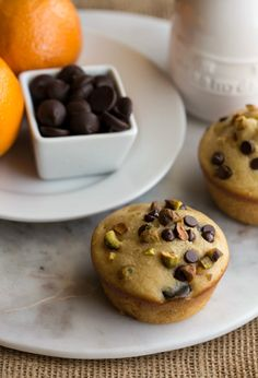 Cannoli Muffins - delicious dessert-y muffins made with healthier ingredients.