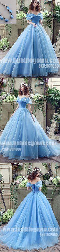 Popular Off the Shoulder Blue Lace Up Back Long Prom Dress Ball Gown, BGP080 #promdress #promdresses #longpromdress #longpromdresses #eveningdress #ballgown