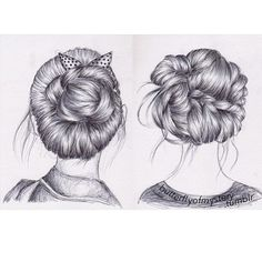 braid drawings | beautiful, braid, bun, drawing - inspiring picture on Favim.com