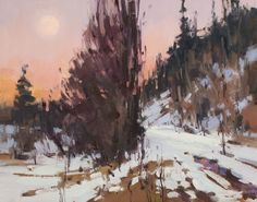 InSight Gallery Artist: Jill Carver - Title: Hunter's Moon Rising  oil on canvas