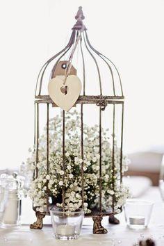 9 centros de mesa para bodas con jaulas