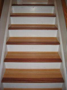Wood Stairs | BrazilianMaple And Brazilian Cherry Stair Nosing