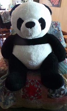GIANT heavy sitting Giantteddy PANDA BEAR Sitting 35 inches plus legs realistic #Giantteddy Giant Plush, Giant Teddy, Panda Bear, Pet Toys, Teddy Bear, Legs, Animals, Fan, Shop