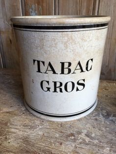 Pot à tabac | antiquitesdecoration Pots, Coffee Cans, Canning, Decor, Decoration, Jars, Home Canning, Dekoration, Inredning