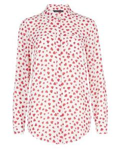 No Peep™-Bluse mit Herzmuster