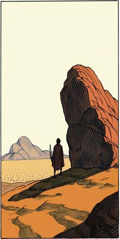 ριntєrєѕt: rayneslays - Watercolour of a Western landscape Art And Illustration, Arte Indie, Western Landscape, Arte Sketchbook, Ligne Claire, Wow Art, Environment Concept Art, Norman Rockwell, Art Graphique