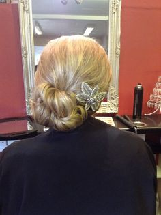 Beautiful relaxed chignon with a twist - Hair by Jac
