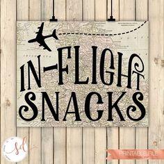 Travel Airplanes Birthday Party Sign, In-Flight Snacks Sign, Around the World Theme, Maps Baby Shower, Bridal Shower Decor, Adult, Digital #aviationweddingairplanebirthdayparties