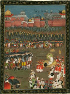 Emperor Aurangzeb at the Siege of Golconda, 1687