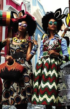 "Natural hair in Vogue Brazil February 2013! Check out more deets of the ""Carmen Miranda Reloaded"" sread and more pictures here ========>>>> http://womaninthejungle.com/archives/1266"
