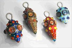Lampwork pendants by Dustin Tabor
