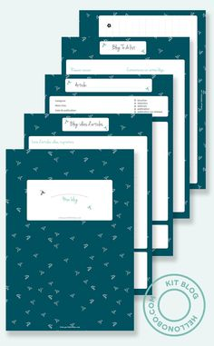 organiser son blog: fiches à télécharger!