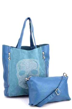 2 In 1 Skull Beaded Large Shopper Bag (FD50071)£17.99