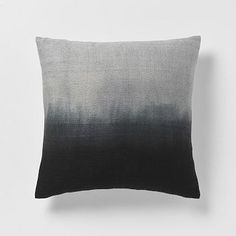 Dip-Dye Rainbow Silk Pillow Cover  Onyx