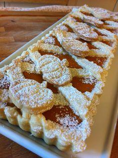 Crostata dolce di ricotta e zucca Tea Recipes, Pumpkin Recipes, Cake Recipes, Dessert Recipes, Torte Cake, Cake & Co, Italian Cake, Italian Desserts, Cake Mix Biscotti Recipe