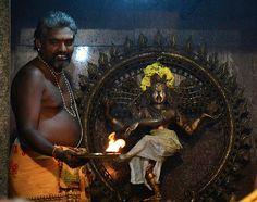 Pujari and Shiva Nataraja