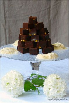 #Chocolate #Pistachio Lokum 15 #Delightfuly #Delicious #Turkish Delights Or Lokum   All Yummy #Recipes