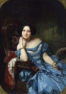 Porträt der Doña Amalie de Llano y Dotres, Condesa de Vilches 1853 Federico de Madrazo