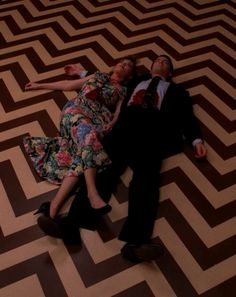 Dale and Annie in the black lodge.