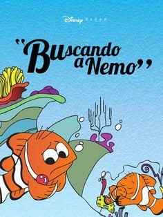 Libro de la pelicula Buscando a Nemo, con Ilustraciones vectorizadas