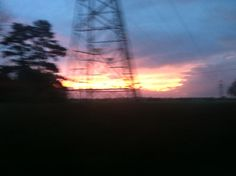 This may be blurry but you have to admit that it looks really cool. This was taken on my journey home from school as I was coming into Chinnor.
