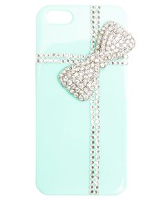 """Bling Bow Phone Case from Wet Seal. cute for the girly girl! a case that will add some """"bling"""" to anybody's phone!"""