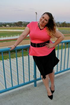 plus size peplum with belt, plus size fashion blog - Australia, outfit of the day, ootd, Melissa Walker Horn, Suger Coat It, Australia