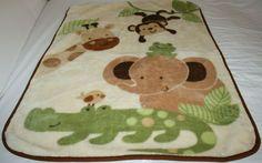 Little Bedding Nojo Baby Blanket Throw Warm Thick Plush Safari Elephant Monkey Giraffe, Elephant, Blankets And Beyond, Jellycat, Starbucks Mugs, Bitty Baby, Baby Blankets, Ugly Christmas Sweater, Baby Dolls