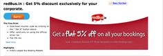 Special corporate discount on Redbus Tickets. Only available on TheDealsPoint