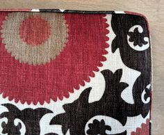 Cushion for a mudroom bench. Find more photos of this cushion in my shop!