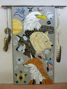 Animal spirit totem in mosaic by Nikki Bryer-Kraft