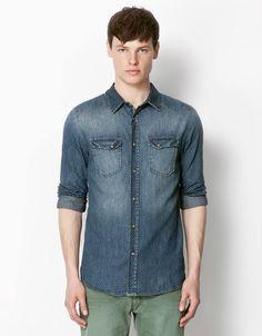 Bershka Bershka Portugal, Style Men, Men s Style, Denim Shirt Men, Womens  Fashion 5ea6308730dd
