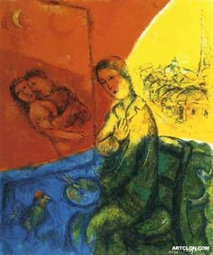 Marc Chagall ~ Peintre #MarcChagall learn more on http://www.johanpersyn.com/category/humanity/art/marc-chagall/