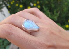 Rainbow Moonstone Ring by Belesas