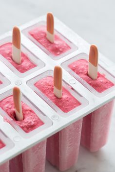 Raspberry Coconut Popsicles (for THM replace honey with maple syrup and sugar with stevia or on plan sweetener)