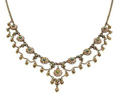 Setty Gallery - Michal Negrin Classic Flowers Necklace - 100-121430, $320 (http://www.settygallery.com/michal-negrin/michal-negrin-classic-flowers-necklace-100-121430/)