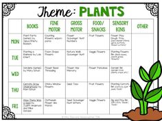 Tons of fun Plant themed activities and ideas perfect for tot school, preschool, or the kindergarten classroom.