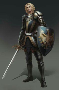 Human Paladin Knight - Pathfinder PFRPG DND D&D d20 fantasy