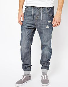 fb158fc928d4 ++ river island denim joggers...he would never wear these