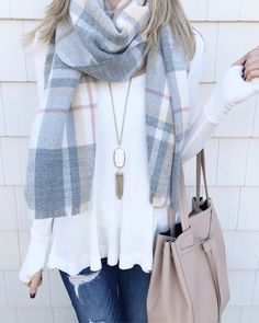 thermal swing top and blanket scarf perfect for winter