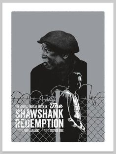 """""""The Shawshank Redemption"""" Variant by Andrew Swainson - Hero Complex Gallery Minimal Movie Posters, Cinema Posters, Retro Posters, Norman Rockwell, Great Films, Good Movies, Everything Film, 1990s Films, Tim Robbins"""