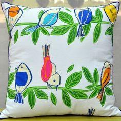 Singing Bird Double Line Cushion