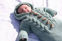 Image result for knitted baby bunting