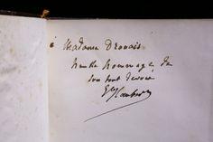 Gustave FLAUBERT La Tentation de Sainte-Antoine Charpentier & Cie, Paris 1874, 15,5x23cm, relié. Edition originale. Les envois de Flaubert sur ce titre sont d'une grande rareté.
